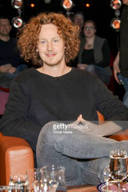 Michael Schulte during the NDR Talk Show on February 23 2018 in Hamburg Germany