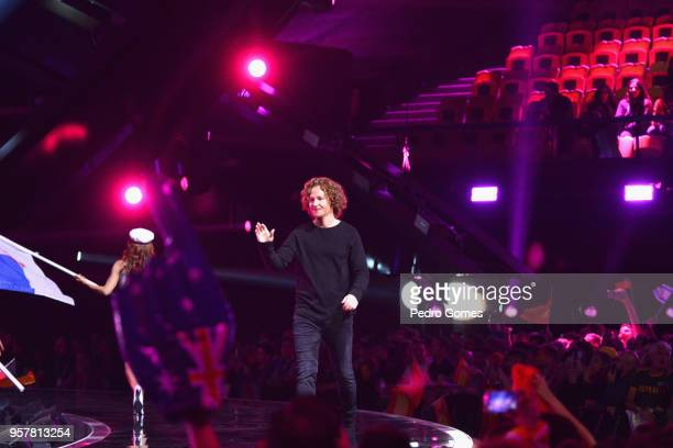 Michael Schulte from Germany at Altice Arena on May 12 2018 in Lisbon Portugal