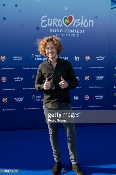 Michael Schulte of Germany attends the red carpet before the Eurovision private party on May 6 2018 in Lisbon Portugal