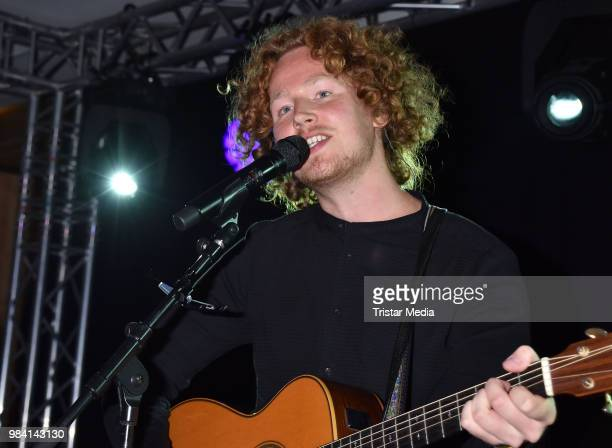 Michael Schulte performs during the LV Lower Saxony Summer Party on June 25 2018 in Berlin Germany
