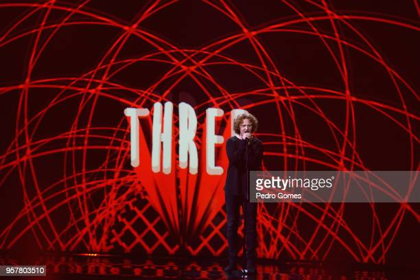Michael Schulte representing Germany performs at Altice Arena on May 12 2018 in Lisbon Portugal