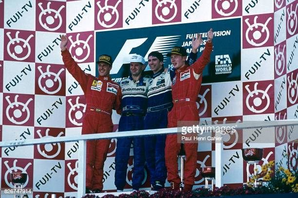 Michael Schumacher Adrian Newey Damon Hill Mika Hakkinen Grand Prix of Japan Suzuka 13 October 1996