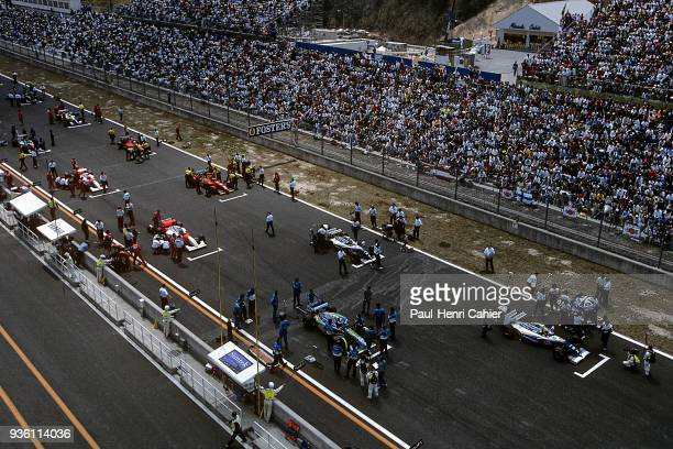 Michael Schumacher Ayrton Senna Damon Hill Mika Hakkinen WilliamsRenault FW16 BenettonFord B194 McLarenPeugeot MPA/9 Grand Prix of Pacific Okayama...