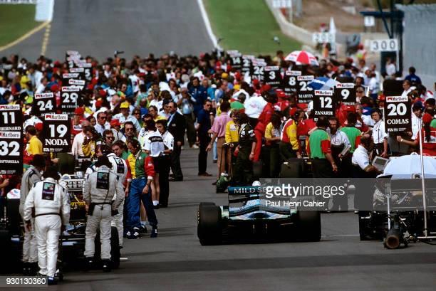 Michael Schumacher BenettonFord B194 Grand Prix of Europe Circuito de Jerez 16 October 1994 Michael Schumacher making his way through the busy...