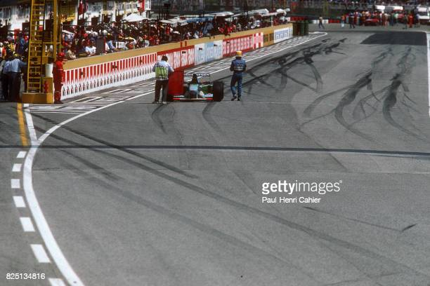 Michael Schumacher BenettonFord B194 Grand Prix of San Marino Imola 01 May 1994 Red flag after Ayrton Senna's fatal accident