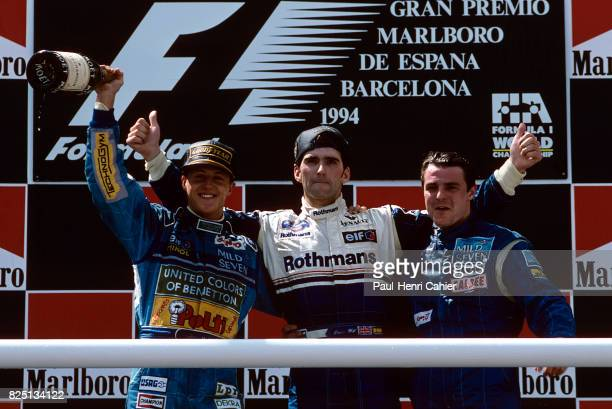 Michael Schumacher, Damon Hill, Mark Blundell, Grand Prix of Spain, Circuit de Barcelona-Catalunya, 29 May 1994.