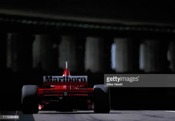 Michael Schumacher drives the Scuderia Ferrari Marlboro Ferrari F310B during the Grand Prix of Monaco on 11th May 1997 on the streets of the...