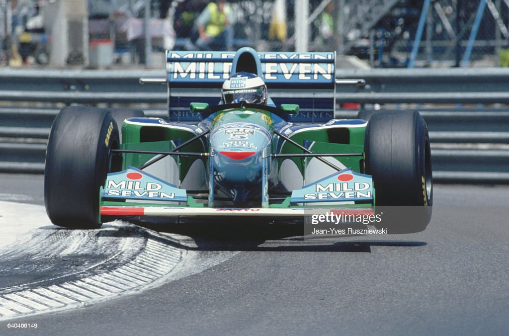 Michael Schumacher Driving for Benetton-Ford : News Photo