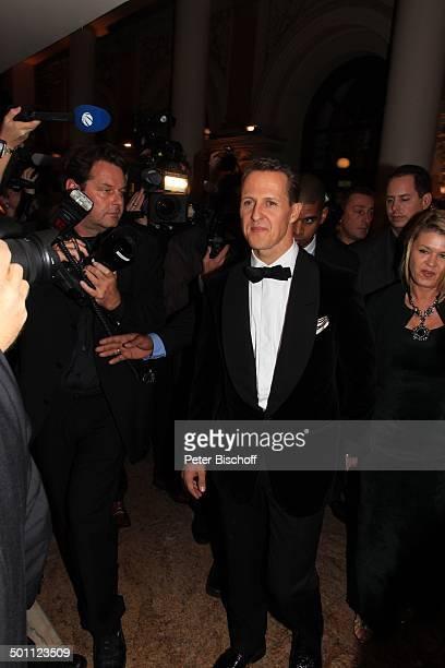 Michael Schumacher Ehefrau Corinna Fotografen Gala 31 Deutscher Sportpresseball Alte Oper Frankfurt Hessen Deutschland Europa ExFormel 1Weltmeister...