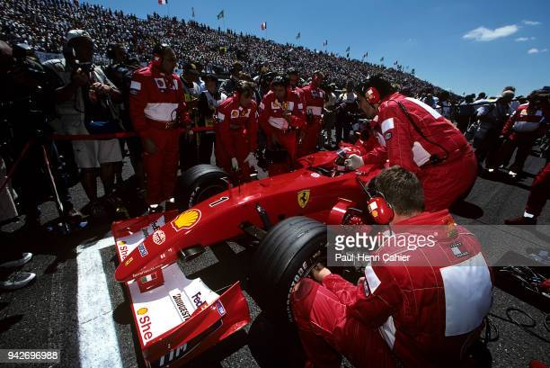 Michael Schumacher Ferrari F2001 Grand Prix of France Circuit de Nevers MagnyCours 01 July 2001 Michael Schumacher on the starting grid of the 2001...