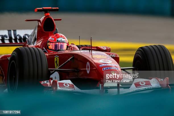 Michael Schumacher Ferrari F2004 Grand Prix of Hungary Hungaroring 15 August 2004 Michael Schumacher on the way to victory in the 2004 Grand Prix of...