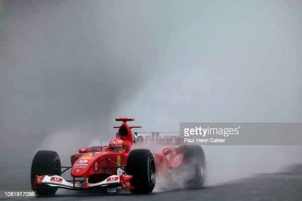Michael Schumacher, Ferrari F2004, Grand Prix of Japan, Suzuka Circuit, 10 October 2004. Michael Schumacher during very wet practice for the 2004...