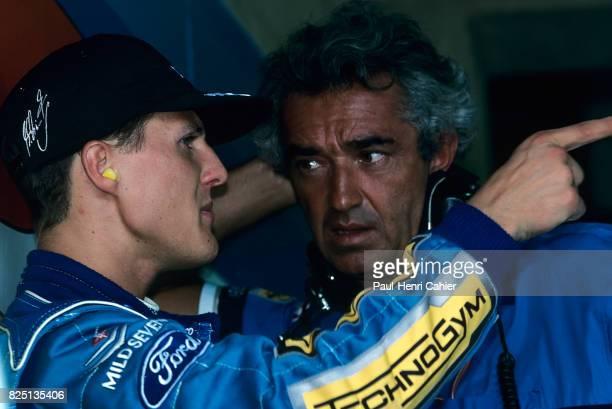 Michael Schumacher Flavio Briatore Grand Prix of Brazil Interlagos 27 March 1994