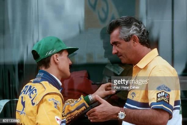 Michael Schumacher Flavio Briatore Grand Prix of Portugal Estoril 26 September 1993