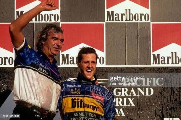 Michael Schumacher Flavio Briatore Pacific Grand Prix TI circuit Aida 22 October 1995