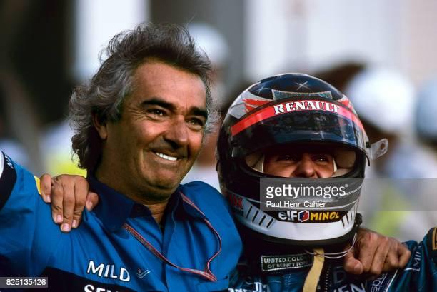 Michael Schumacher Flavio Briatore Pacific Grand Prix TI circuit Aida 22 October 1995 Michael Schumacher and Benetton boss Flavio Briatore World...