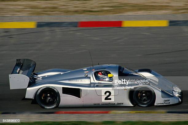 Michael Schumacher from Germany races with MercedesBenz during the 1991 24 hours of Le Mans