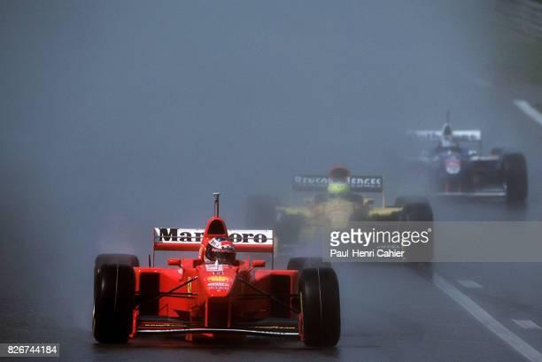 Michael Schumacher Giancarlo Fisichella Jacques Villeneuve Ferrari F310B Grand Prix of Belgium Spa Francorchamps 24 August 1997