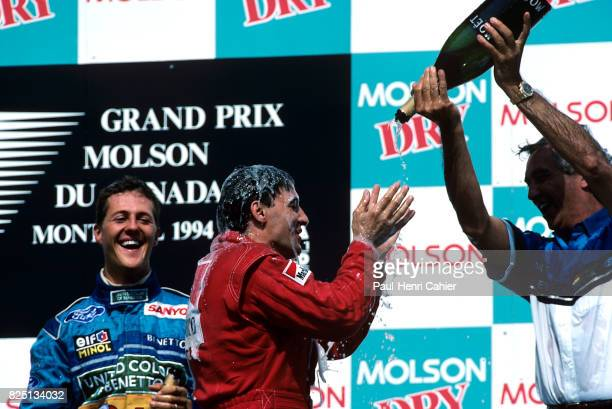 Michael Schumacher, Jean Alesi, Flavio Briatore, Grand Prix of Canada, Circuit Gilles Villeneuve, 12 June 1994.