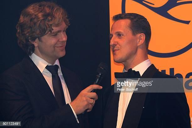 Michael Schumacher Michael Steinbrecher Gala 31 Deutscher Sportpresseball Alte Oper Frankfurt Hessen Deutschland Europa Bühne Auftritt Mikro...