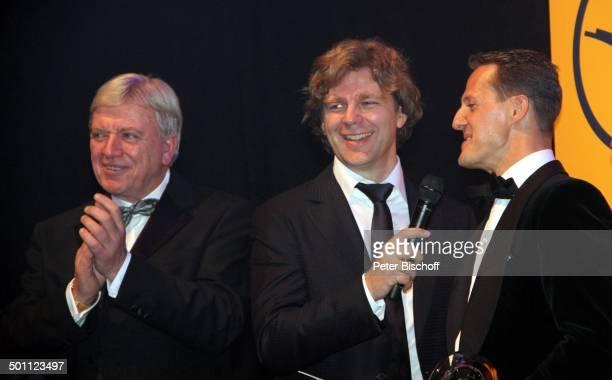 Michael Schumacher Michael Steinbrecher Volker Bouffier Gala 31 Deutscher Sportpresseball Alte Oper Frankfurt Hessen Deutschland Europa Bühne...