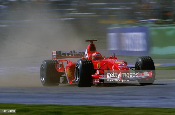 Michael Schumacher of Germany and Ferrari in action during the Austrian Grand Prix on May 18, 2003 at the A1 Ring in Spielberg, Austria.