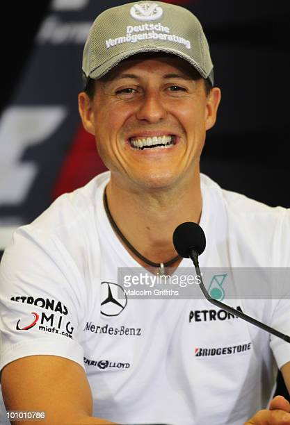 Michael Schumacher of Germany and Mercedes GP attends the drivers press conference during previews to the Turkish Formula One Grand Prix at Istanbul...