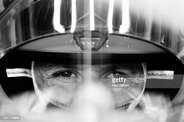 Michael Schumacher of Germany and Mercedes GP prepares to drive during the final practice session prior to qualifying for the Brazilian Formula One...