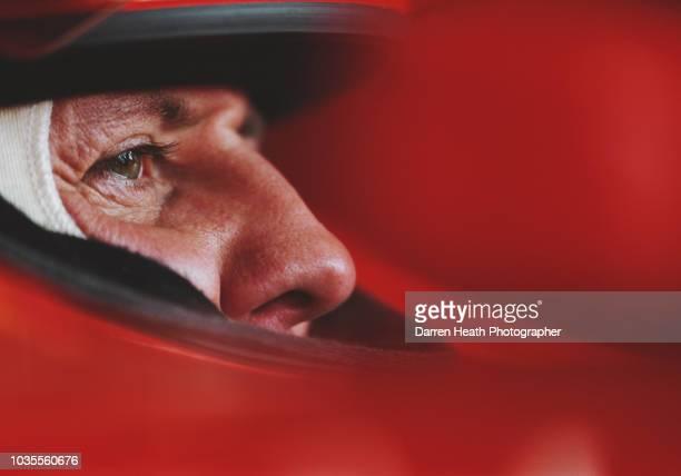 Michael Schumacher of Germany sits aboard the Scuderia Ferrari Marlboro Ferrari F2005 F1 Ferrari V10 during in season testing on 10 May 2005 at the...