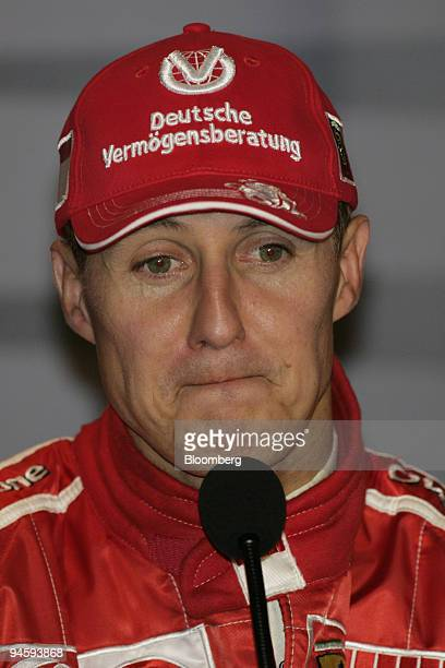 Michael Schumacher of Team Ferrari announces his retirement after the Formula 1 GP of Italy in Monza, Italy. On Sunday, September 10, 2006....