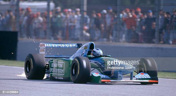 Michael Schumacher of the BenettonFord Team in action during the San Marino Grand Prix held at the Autodromo Enzo e Dino Ferrari in Imola Italy on...