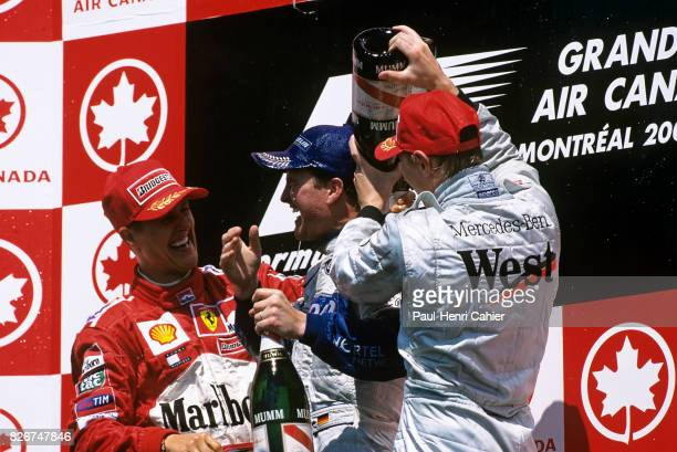 Michael Schumacher Ralf Schumacher Mika Hakkinen Grand Prix of Canada Circuit Gilles Villeneuve 10 June 2001