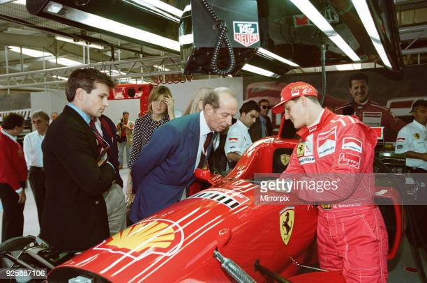 Michael Schumacher with Prince Edward the Duke of Kent at Silverstone 13th July 1996