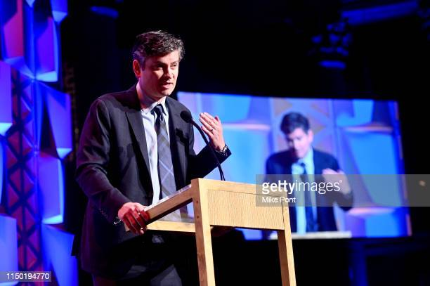 Michael Schur speaks onstage at the 78th Annual Peabody Awards Ceremony Sponsored By MercedesBenz at Cipriani Wall Street on May 18 2019 in New York...