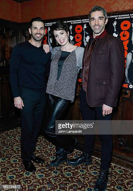 """Michael Scirrotto, Melissa Mahon and Peter Nelson attend the after party to celebrate Jennifer Nettles & Carly Hughes join Broadway's """"Chicago"""" -..."""