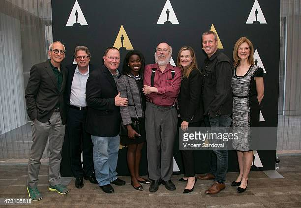 Michael Shamberg Kerry Brougher John Lasseter Tayo Amos Henry Jenkins Krista Smith Ze Frank and Dawn Hudson attend AMPAS Hosts The New Audience...