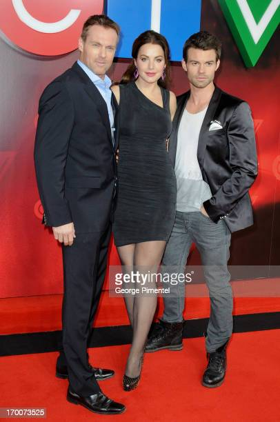 Michael Shanks Erica Durance Daniel Gilles from 'Saving Hope' attend CTV Upfront 2013 Presentation at Sony Centre For Performing Arts on June 6 2013...