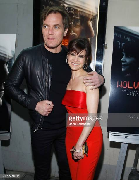 Michael Shannon and Carla Gugino attend Wolves special screening at IFC Center on March 2 2017 in New York City