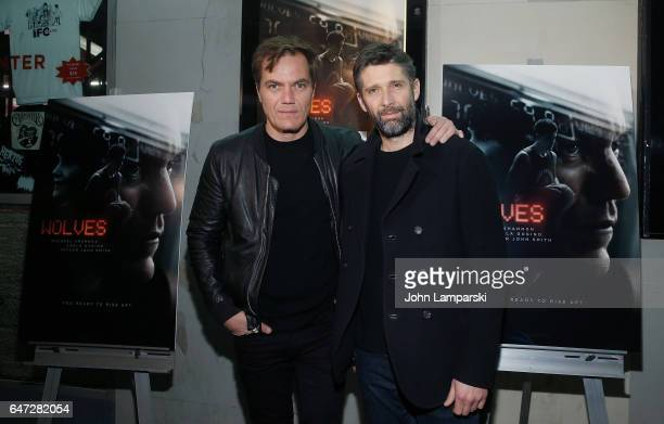 Michael Shannon and director Bart Freundlich attend 'Wolves' special screening at IFC Center on March 2 2017 in New York City