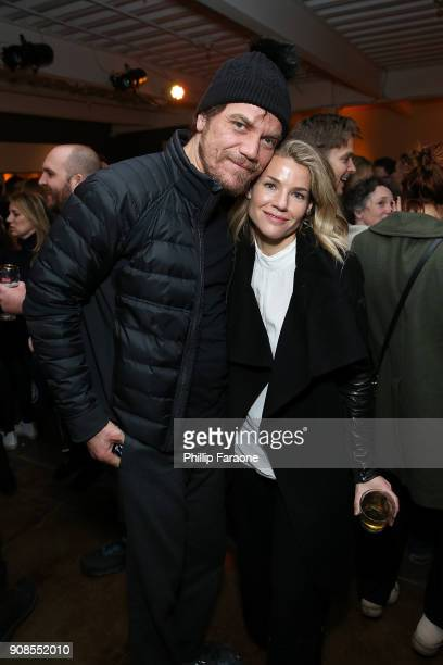 Michael Shannon and Elizabeth Chomko at the What They Had cast party at in Cafe Artois during the Sundance Film Festival in Park City Utah on Sunday...