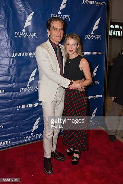 Michael Shannon and girlfriend Kate Arrington attend the 2016 Drama Desk Awards at Anita's Way on June 5 2016 in New York City