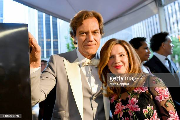 Michael Shannon and Kate Arrington attend the 73rd Annual Tony Awards at Radio City Music Hall on June 09 2019 in New York City