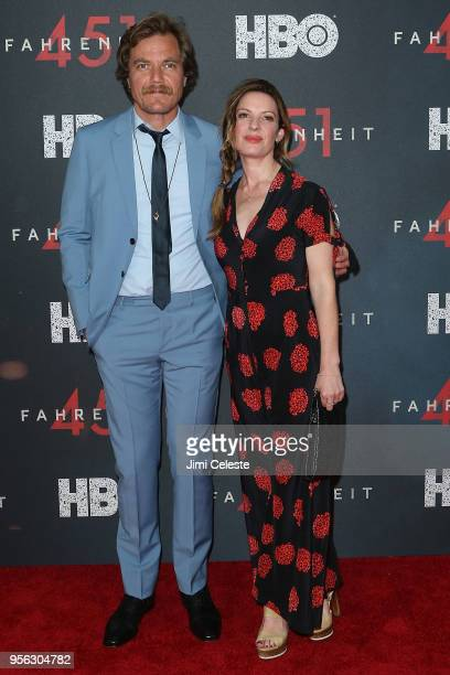Michael Shannon and Kate Arrington attend the New York premiere of Farenheit 451 at NYU Skirball Center on May 8 2018 in New York New York