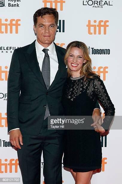 Michael Shannon and Kate Arrington attend the premiere of Nocturnal Animals during the 2016 Toronto International Film Festival at Princess of Wales...