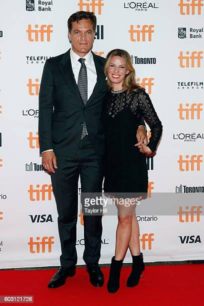 Michael Shannon and Kate Arrington attend the premiere of 'Nocturnal Animals' during the 2016 Toronto International Film Festival at Princess of...