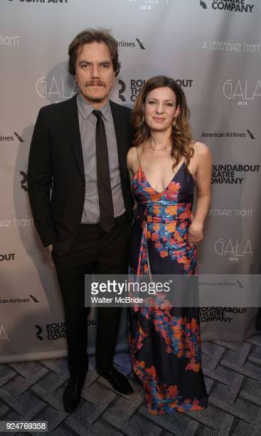 Michael Shannon and Kate Arrington attend the Roundabout Theatre Company's 2018 Gala 'A Legendary Night' on February 26 2018 at the The Ziegfeld...