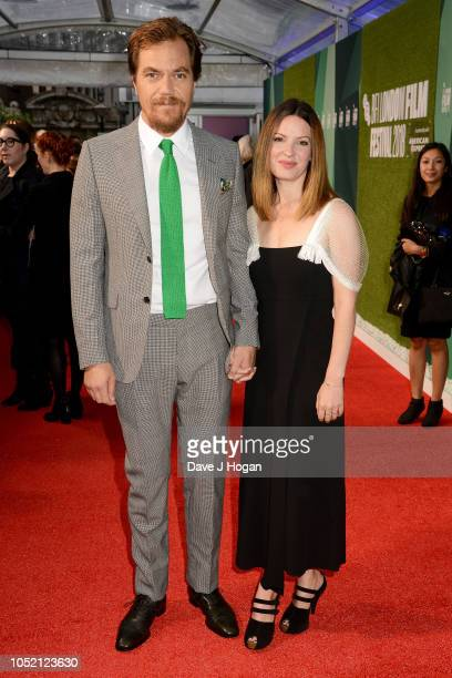 Michael Shannon and Kate Arrington attend the World Premiere of The Little Drummer Girl at the 62nd BFI London Film Festival on October 14 2018 in...