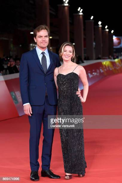 Michael Shannon and Kate Arrington walk a red carpet for 'Trouble No More' during the 12th Rome Film Fest at Auditorium Parco Della Musica on...