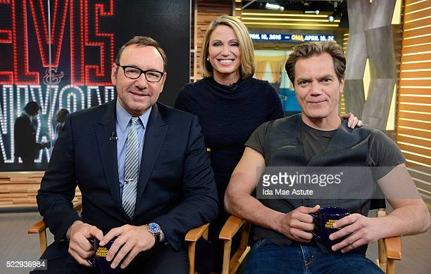 AMERICA Michael Shannon and Kevin Spacey who portray 'Elvis Nixon' talk about their new film on GOOD MORNING AMERICA airing FRIDAY April 22 on the...