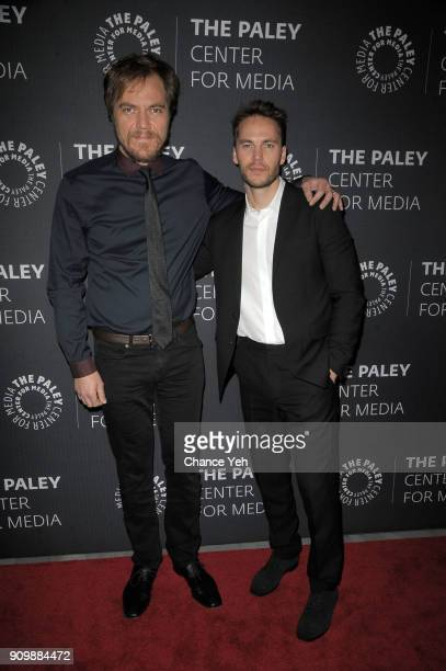 Michael Shannon and Taylor Kitsch attend Waco world premiere screening at The Paley Center for Media on January 24 2018 in New York City